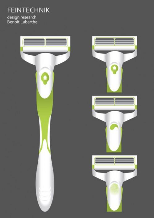 design rasoir objet ergonomie