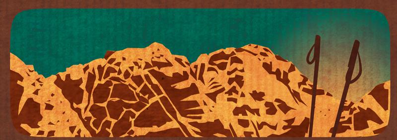 pyrénées montagne dessin menu