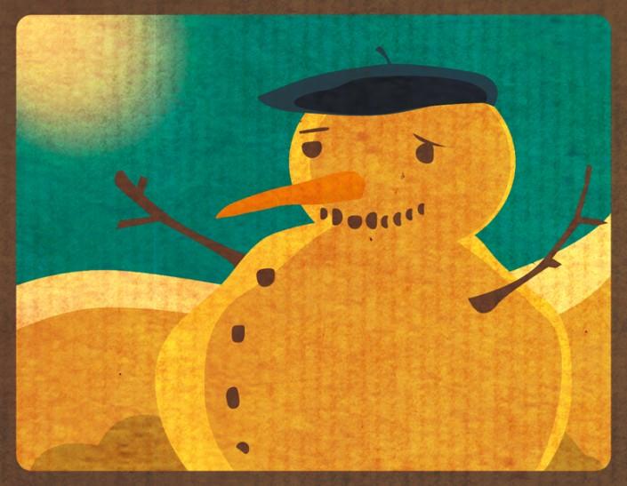 dessin bonhomme de neige shuss