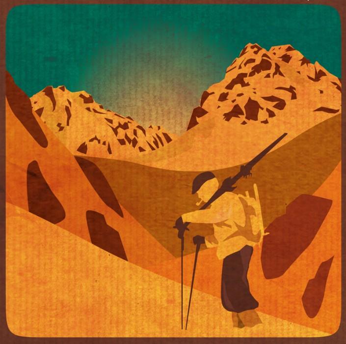 illustration ski